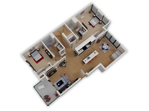 Capitol Yard Apartments_ West Sacramento CA_Floor Plan_Two Bedroom Two Bathroom B8